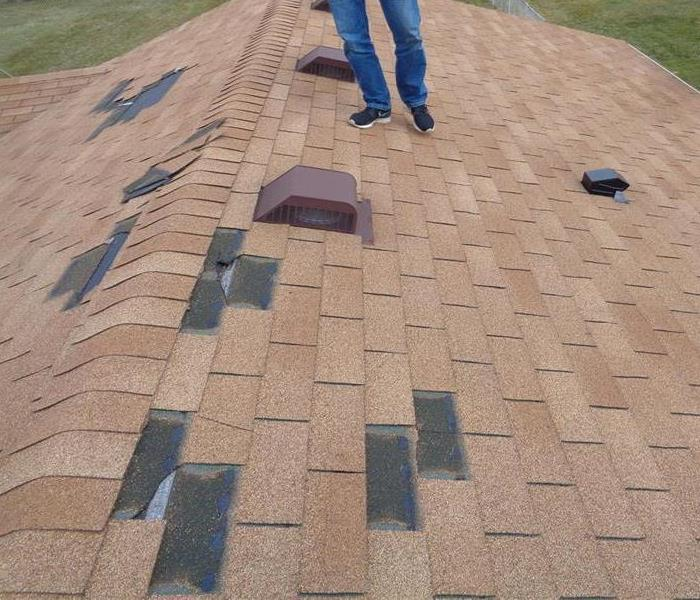 Wind Storm Blows off Shingles